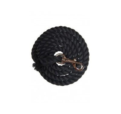 Black Cotton Lead Rope|Animal Farmacy
